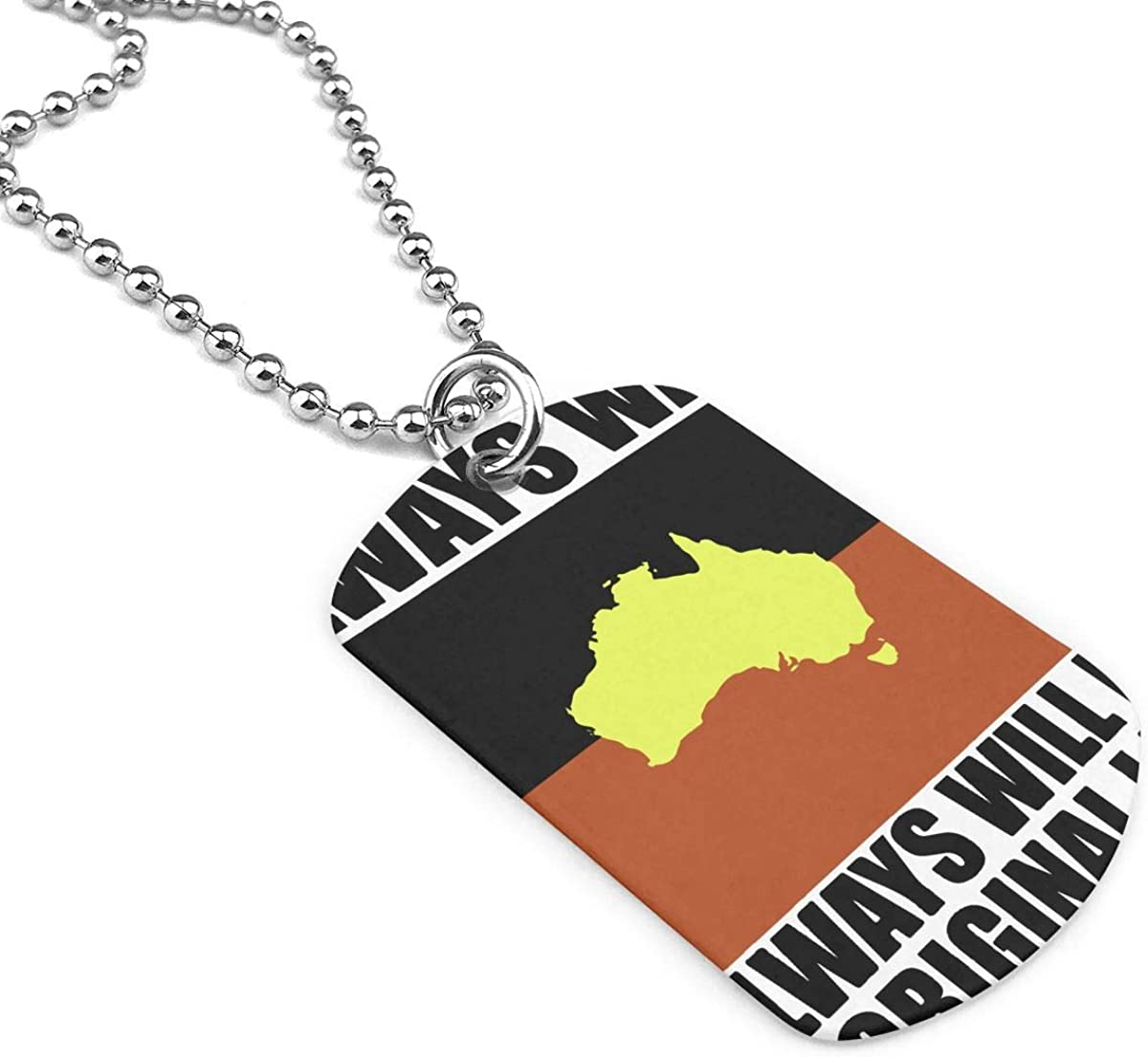Military Necklace Flag Of Australia Custom Zinc Alloy Pendant Necklace Dog Tags