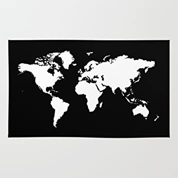 Amazon society6 black white world map rug 3 x 5 haroulita society6 black white world map rug 3 gumiabroncs Image collections
