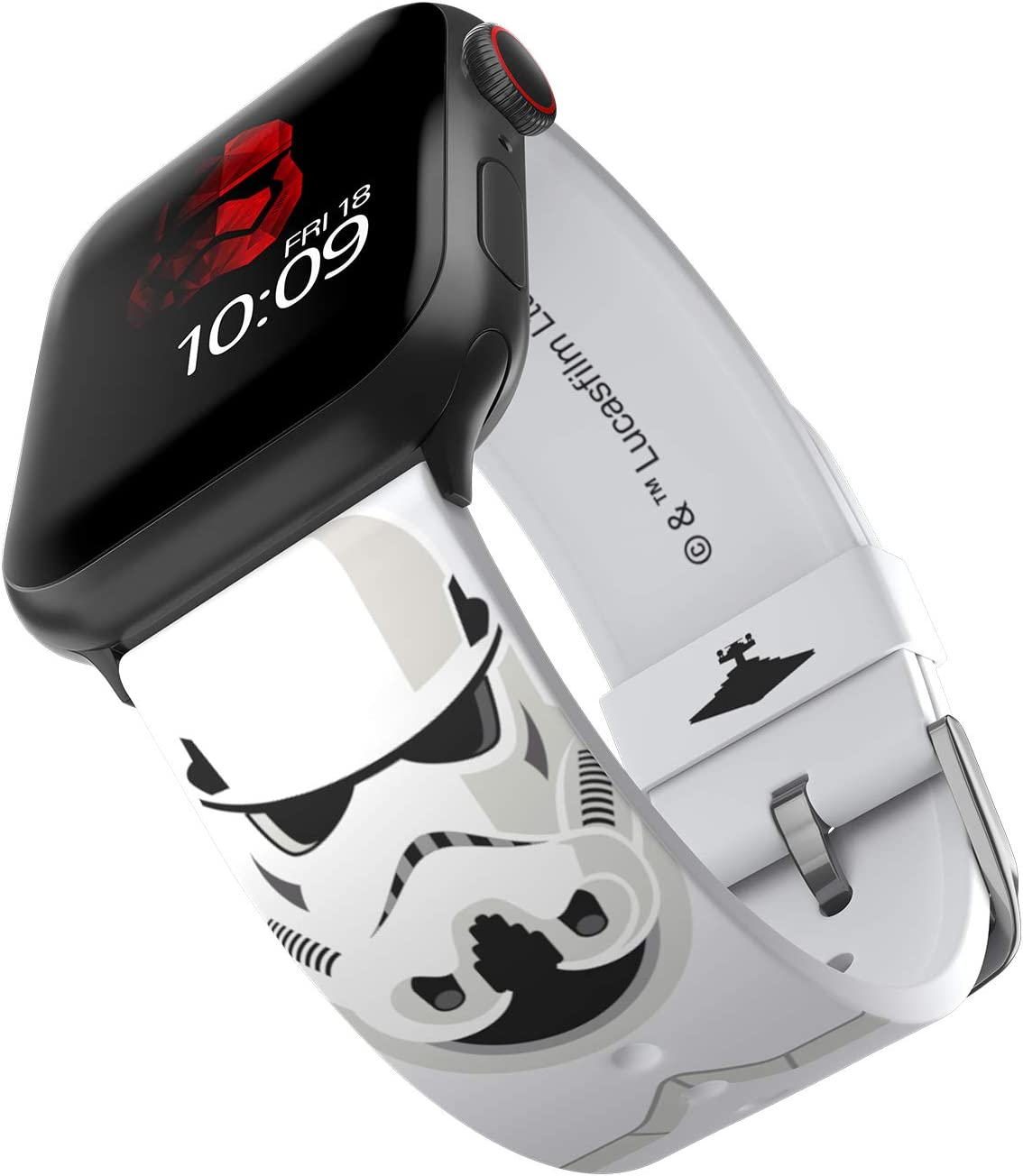Star Wars - Stormtrooper Smartwatch Band – Officially Licensed, Compatible with Apple Watch (not included) – Fits 38mm, 40mm, 42mm and 44mm
