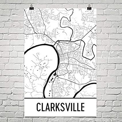 picture regarding Printable Map of Tennessee named : Clarksville Map, Clarksville Artwork, Clarksville