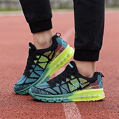Mujer Running XiXiDiy de para Caucho de Negro Zapatillas xqn8wAgvP