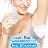 40 PCS (20PR non-embossed, Individually Wrapped per PR) Disposable underarm sweat pads for sweat armpit sweat pads underarm shields underarm sweat guards underarm sweat protectors