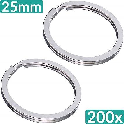 200 pieza Llave 25 mm de diámetro anillos Acero Endurecido Y ...