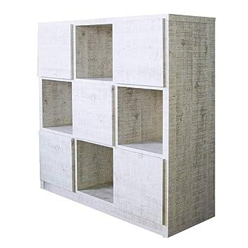 e57eb3fd79 Amazon|100-3 ラック ラッキー 1-13 (WH) 書棚 本棚 収納家具 多目的 ...