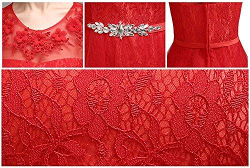 Da Pizzo Donne Sera Da Convenzionale Rosso 2015 Promenade Vestito Partito Lungo Di Drasawee Abiti BBtxpq