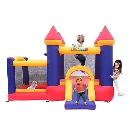 Amazon.com: JOYMOR castillo inflable de salto con soplador ...