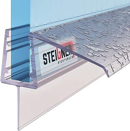 Courb/é Joint d/étanch/éit/é PVC Noir STEIGNER Joint de Douche Verre d/épaisseur 6//7//8 mm UK03S 30 cm