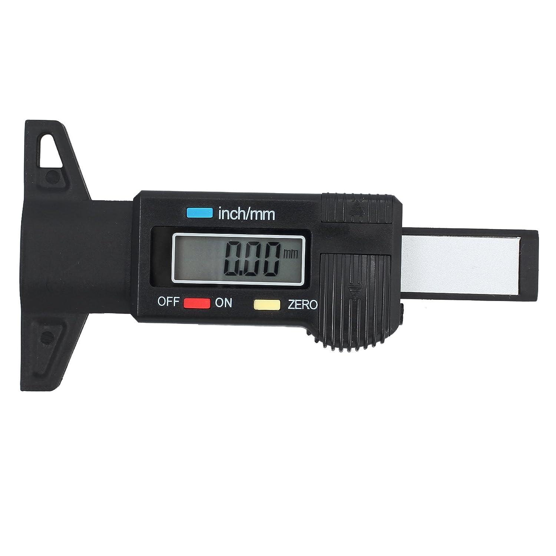 Kamtop Jauge de Profondeur Bande de Roulement Num/érique Pneu 0-25,4/mm avec Ecran LCD pouces//mm Outil de Mesure Profondeur R/églable pour Moto Voiture Van
