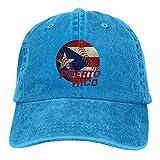 Unisex Puerto Rico Baseball Flag Adjustable Denim Baseball Caps Cowboy Peaked Hats