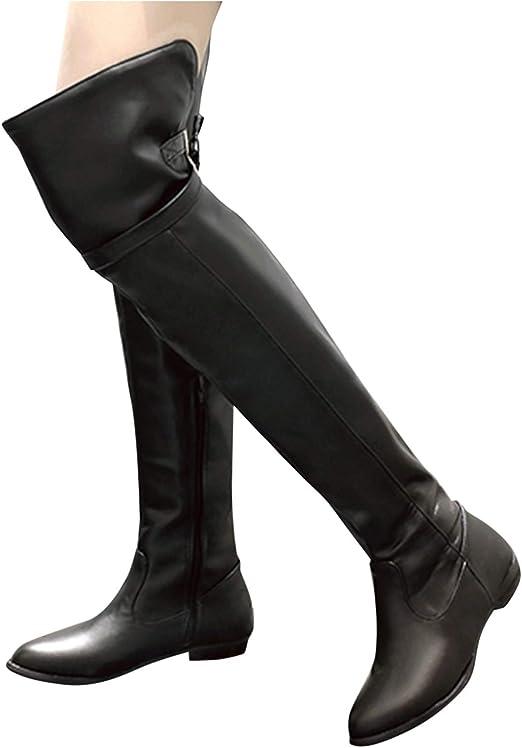 Damen Overknee Stiefeletten Stiefel Warm Winterstiefel Kniestiefel Boots Schuhe