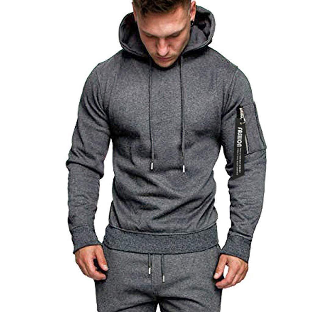 Nihewoo Mens Hoodie Pullover Plus Size Jumper Coats Sport Tracksuit Autumn Winter Tops Hood Junior Sweatshirt