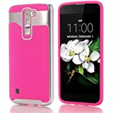 For LG K7 Case,GBSELL Hard Hybrid Case Stand Shockproof Cover For LG K7