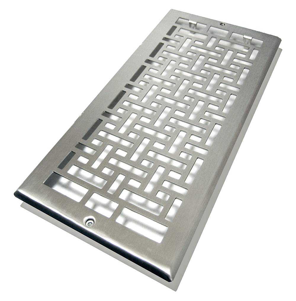 Decor Grates AJL614R-NKL Oriental Return, 6-Inch by 14-Inch, Nickel