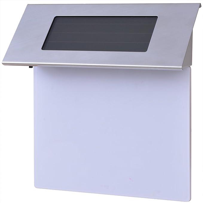 vidaXL Solar Hausnummernleuchte Edelstahl Hausnummer Beleuchtung Beleuchtet