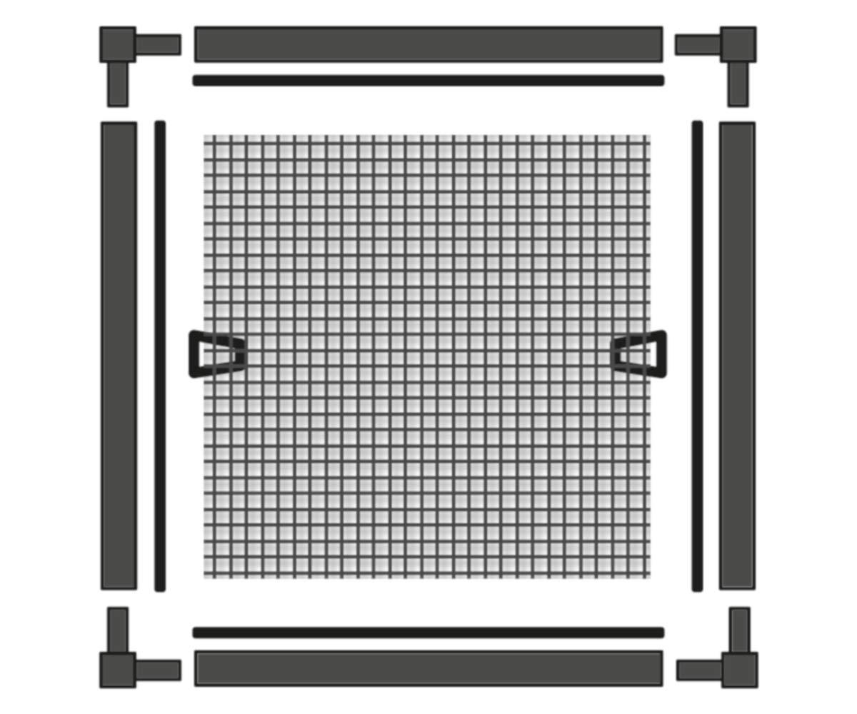 Schellenberg 70986 Insektenschutz 100 x 120 cm Fliegengitter f/ür Fenster 120 x 140 cm Wei/ß