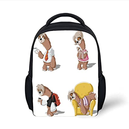 81aafe0b2982 Amazon.com  iPrint Kids School Backpack Sloth