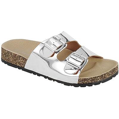Forever Women's Sparkle Glitter Slip On Casual Sandals | Slides