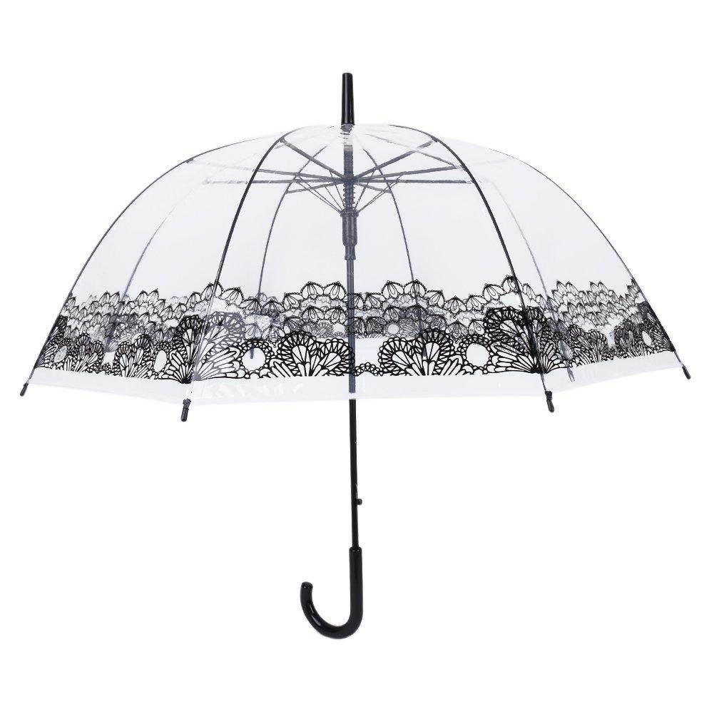 Plantsd, Parapluie cannes  Femme Garçon Fille noir Cage à oiseaux moyen