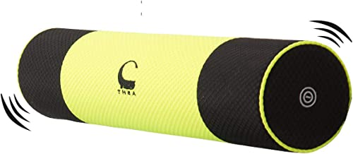 THEA 24 Vibrating Foam Roller, Vibration Massage Pillow and Exercise Foam Roller, Operated by Battery, Free Carry Bag