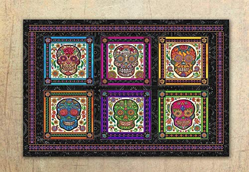 Sugar Skull, Day of the Dead Tapestry by