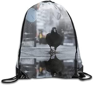 Drawstring Backpack Puffins Shoulder Bags