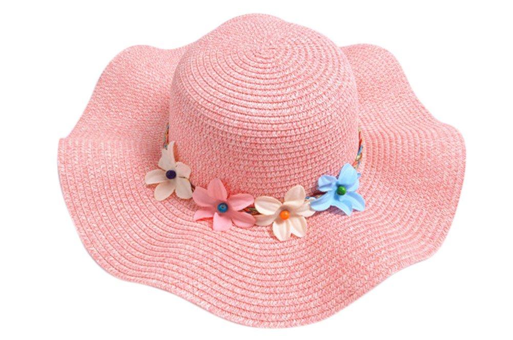 Hosaire Sombrero para el sol sombrero de paja Verano Gorra Sombrero Algodón Anti UV Solar para Viaje Playa para Bebé Niñas