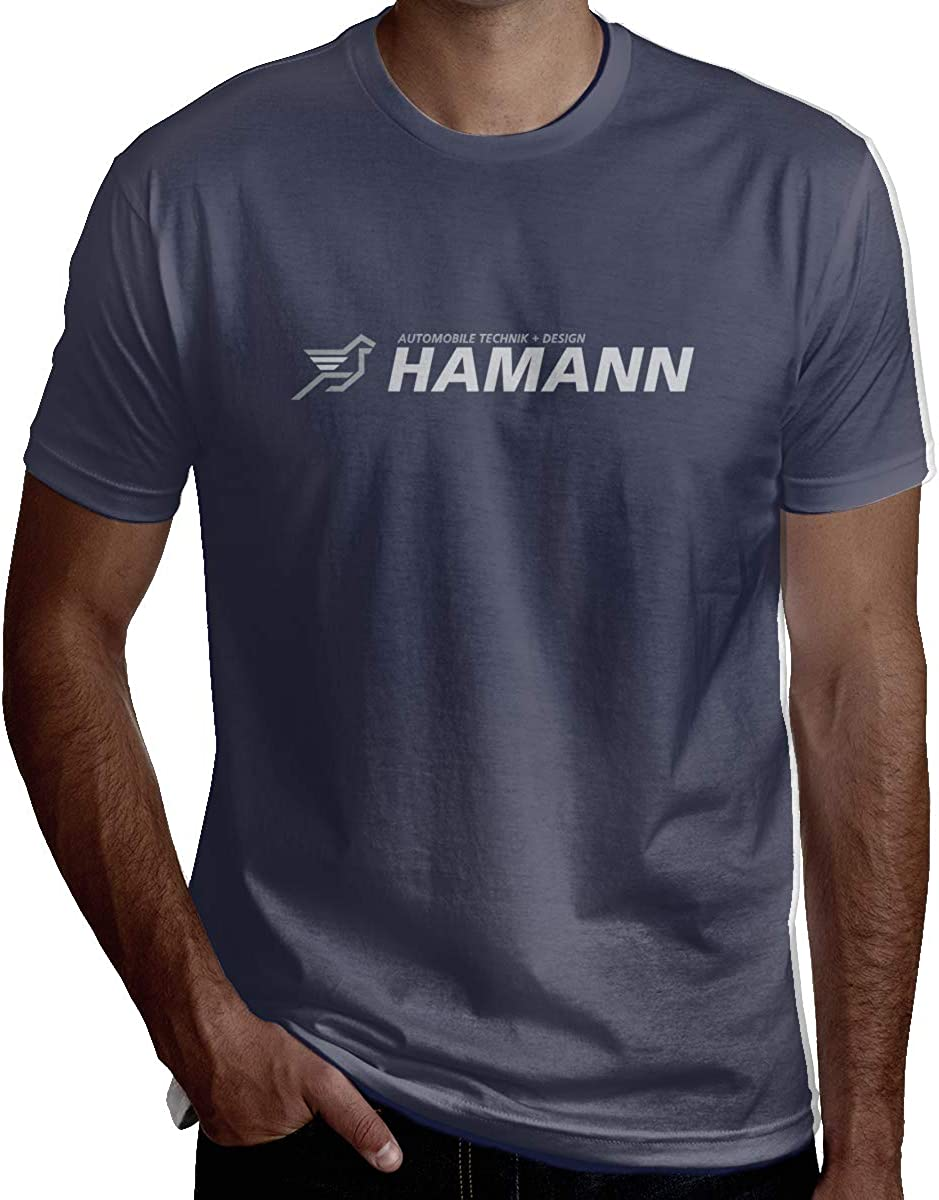 HaiguangZ Hip Hop Hamann-Motorsport-Logo T Shirts for Man Black