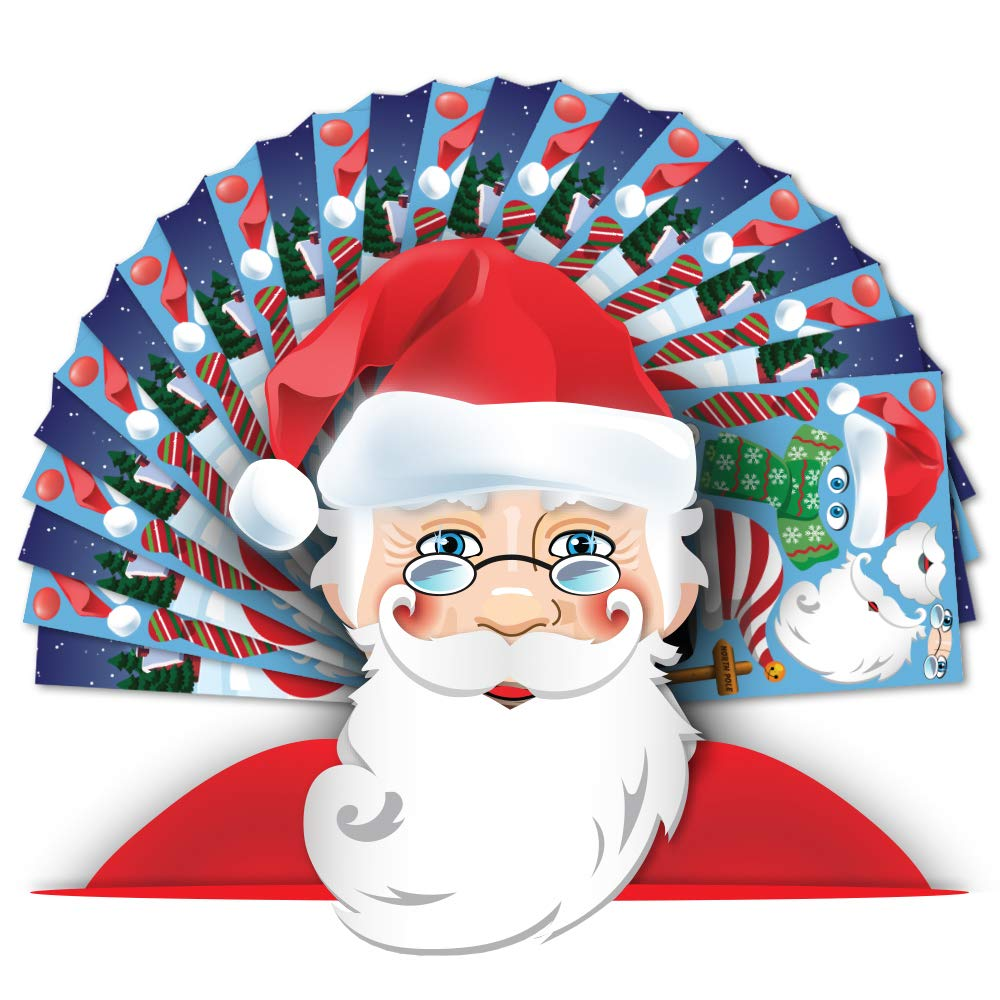 Colonel Pickles Novelties Make A Santa Sticker Kits Fall Christmas Crafts for Kids – DIY Supplies