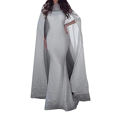 Crylee - Vestido de Mujer, Falda de Sirena, Falda Larga, Cuello ...