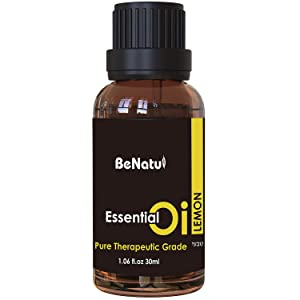 Lemon Essential Oil Organic, Citrus Scent for Aromatherapy, Pure Therapeutic Grade for Diffuser, Skin & Hair Care 1 oz - by Benatu