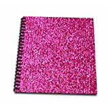 3dRose db_112888_2 Hot Pink Faux Glitter-Photo of Glittery Texture-Girly Trendy-Glamorous Sparkly Bling Effect Memory Book, 12 by 12-Inch