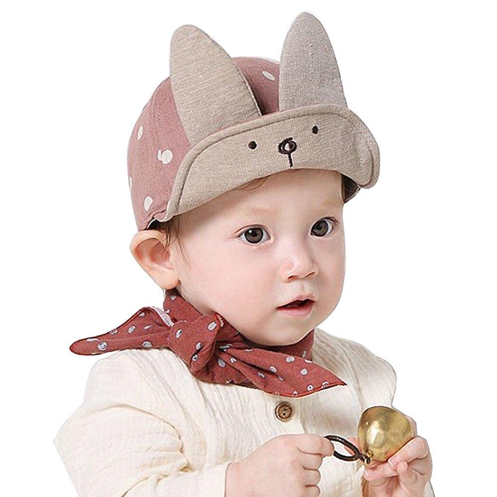 Baby Sunhat Dot Rabbit Hat Toddler Cap Summer Kids Newborn Pilot Cap with  Velcro  Amazon.co.uk  Clothing 5796c17e0d4