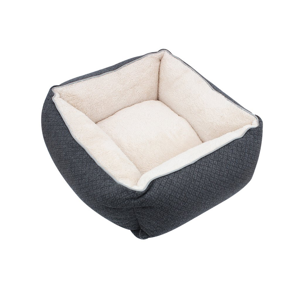 Black Small Black Small WX-WX Pet Supplies Pet Supplies Doghouse Kennel Cat Nest Pet Pad Cat Mat Sleeping Bag Deep Sleep Mat Removable And Washable Seasons Multifunction (color   BLACK, Size   S)