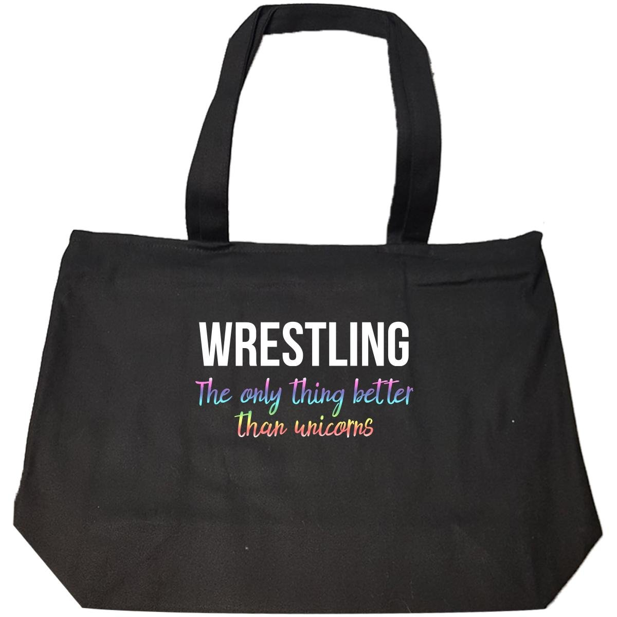 Wrestling The Only Thing Better Than Unicorns Funny - Tote Bag With Zip