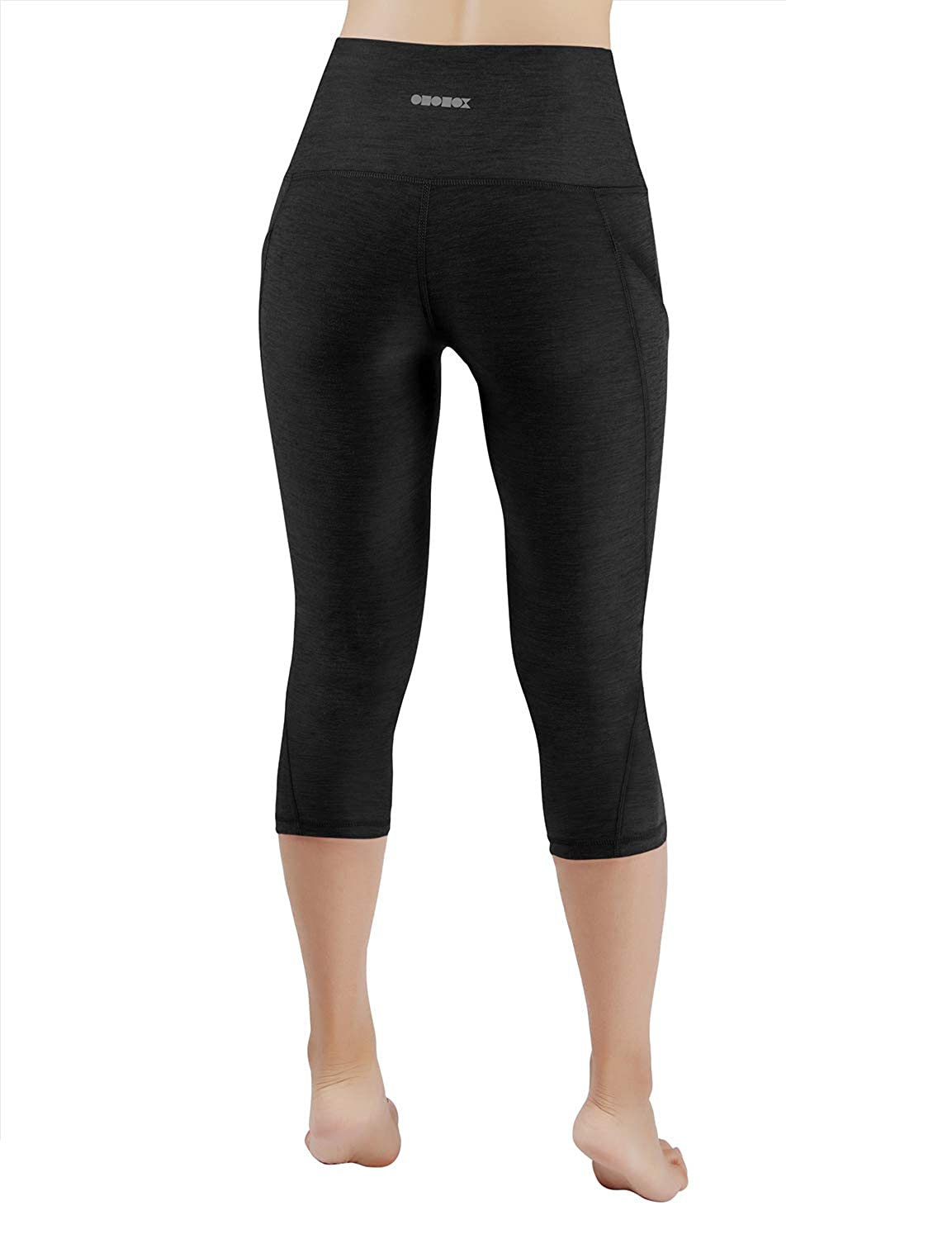 42eecd9abbe49 Amazon.com: ODODOS High Waist Out Pocket Yoga Capris Tummy Control Workout  Running 4 Way Stretch Yoga Pants,Leggings: Clothing