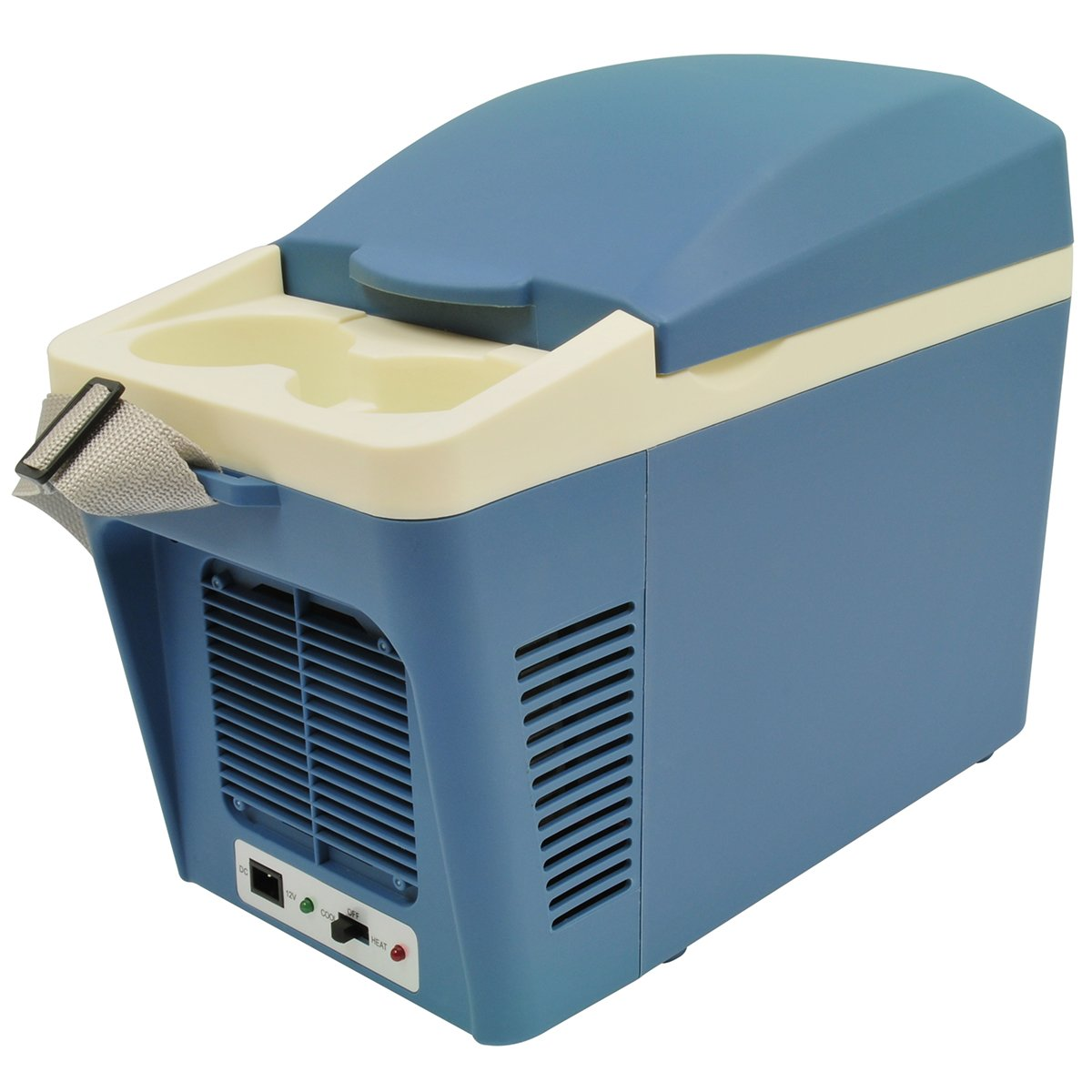 RoadPro RPAT-788 7 Liter 12V Cooler//Warmer with Cup Holders