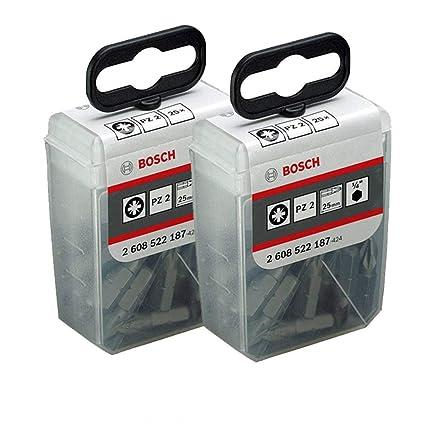 Bosch extra duros para 2608522187 PZ2 25 mm Puntas de destornillador ...