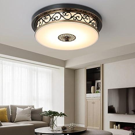 LED plafón circular hueca de flores talladas Hierro y ...