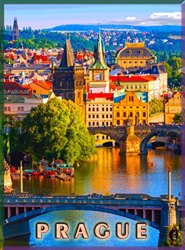 A SLICE IN TIME Praha Prague Czech Republic Europe European Advertisement Travel Art Collectible Wall Decor Poster Print. Measures 10 x 13.5 inches