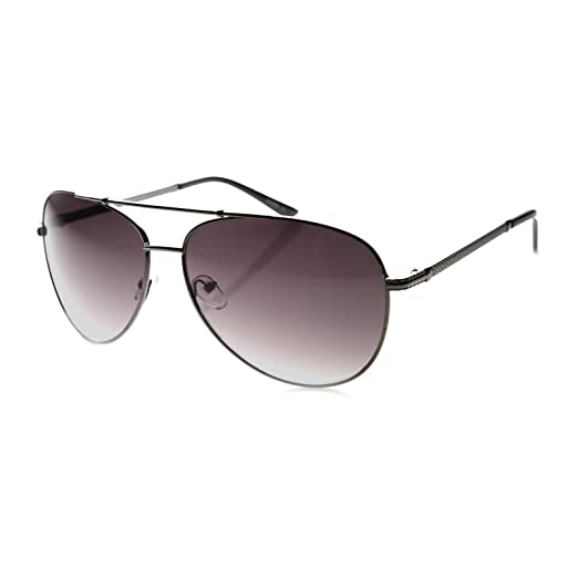 51f007a87283 Mens Oversized Two-Toned Metal Aviator Sunglasses with Raised Diamond  Patterned Arms - 65mm (
