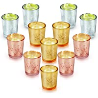 LA BELLEFÉE Citronella Candles 12-pack Votive Citronella Candles (Mercury Speckled)