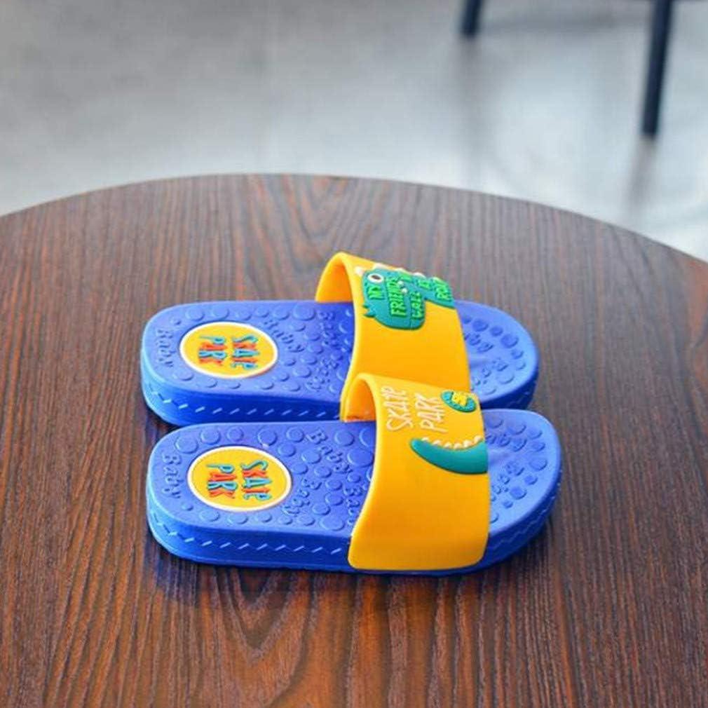 LeoarTor Water Flip Flops for Kids Non Slip Soft Dinosaur Home Slippers PVC
