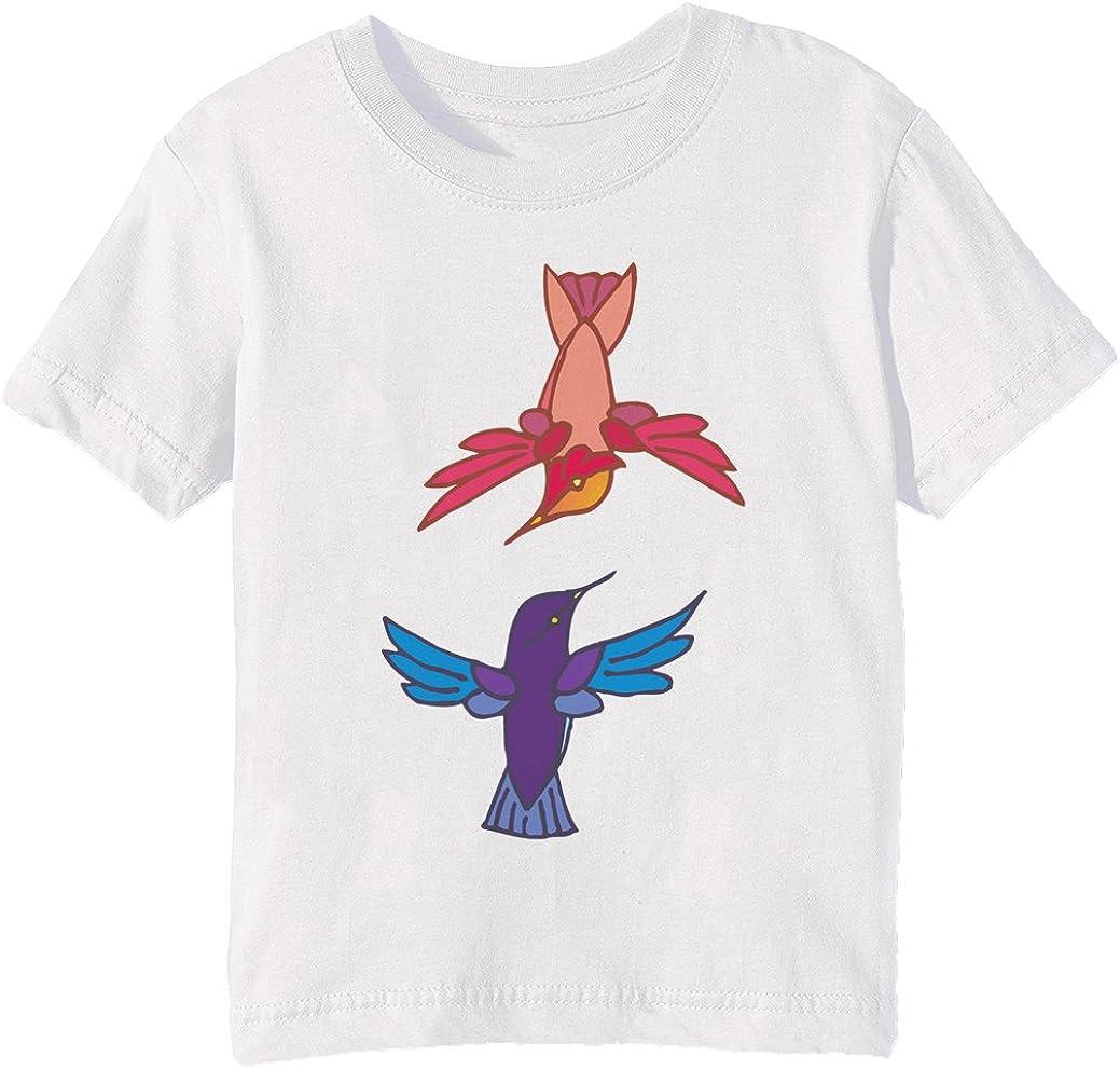 Aves Niños Unisexo Niño Niña Camiseta Cuello Redondo Blanco Manga Corta Tamaño XL Kids Unisex Boys Girls T-shirt White X-Large Size XL: Amazon.es: Ropa y accesorios