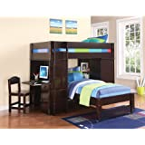 Amazon Com Bunk Bed All In 1 Loft With Trundle Desk