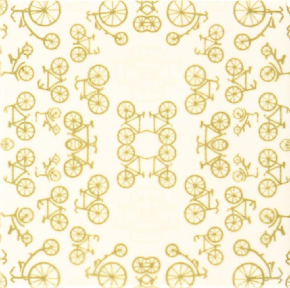 3dRose cst/_62321/_4 Vintage Bicycles in Soft Brown Ceramic Tile Coasters Set of 8