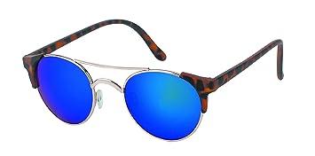Sonnenbrille rund Vintage Metallrahmen John Lennon Retro 400UV Cat Eye schmal WfCcpxNlC