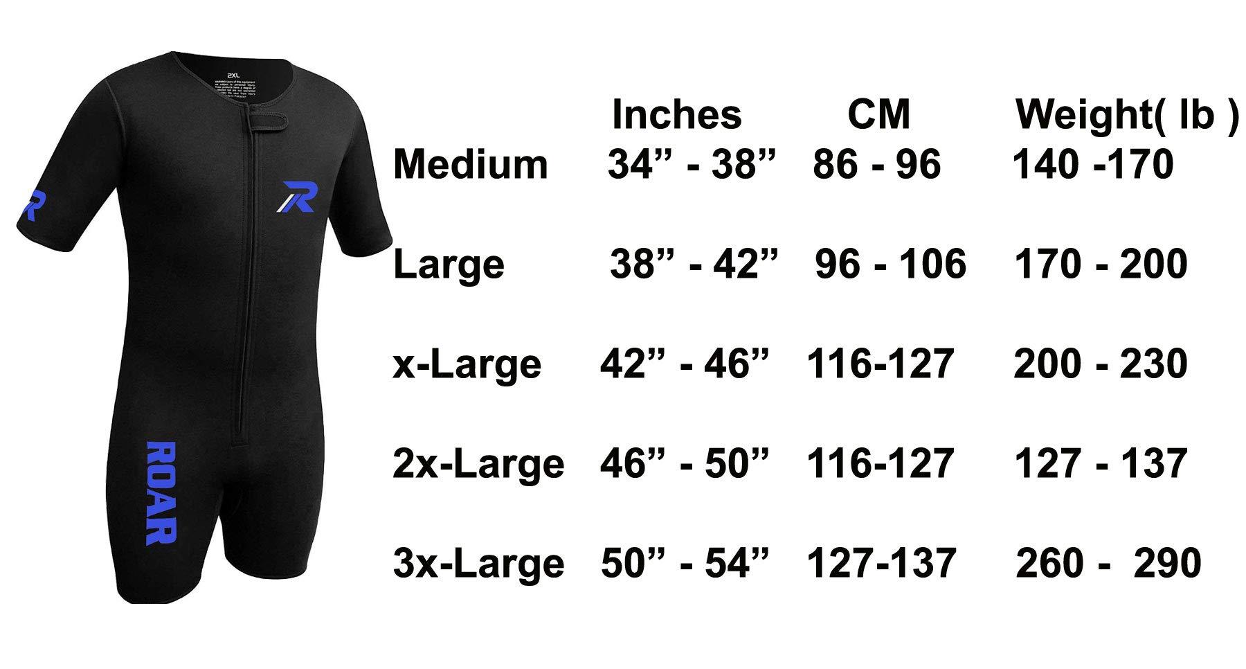 Roar Neoprene Suit Sweet Unisex (Black Blue, X-Large) by Roar (Image #5)
