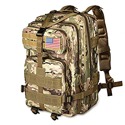 NOOLA Tactical Military Assault Army Bags and Backpacks with MOLLE Webbing Backpack Patches 30L