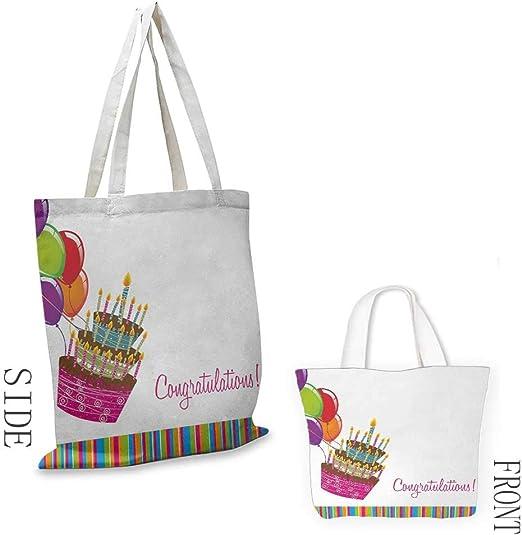 Amazon.com: Bolsa de lona multiusos para cumpleaños, letras ...