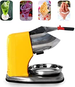 Commercial Electric Ice Crusher Shaver Ice Smoothie Slushy Maker Machine 80kgs/h Electric Snow Cone Ice Maker (Plug Type : AU)